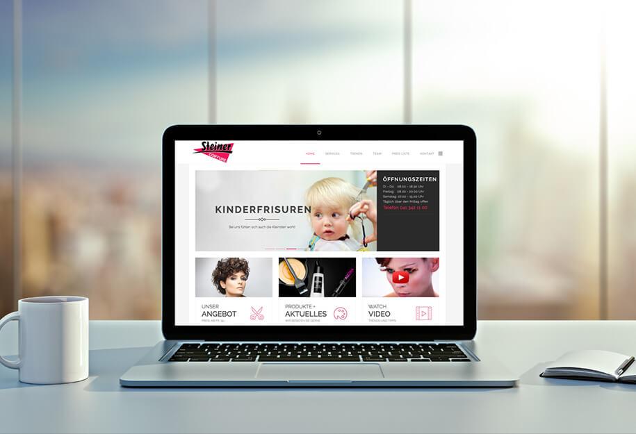 Startseite - Website Coiffure Steiner