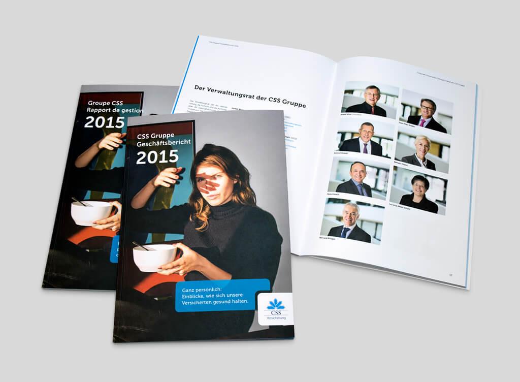 Bildbearbeitung CSS Geschäftsbericht
