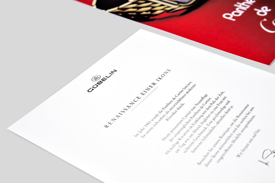 Gübelin Einladungskarte Cartier - 02