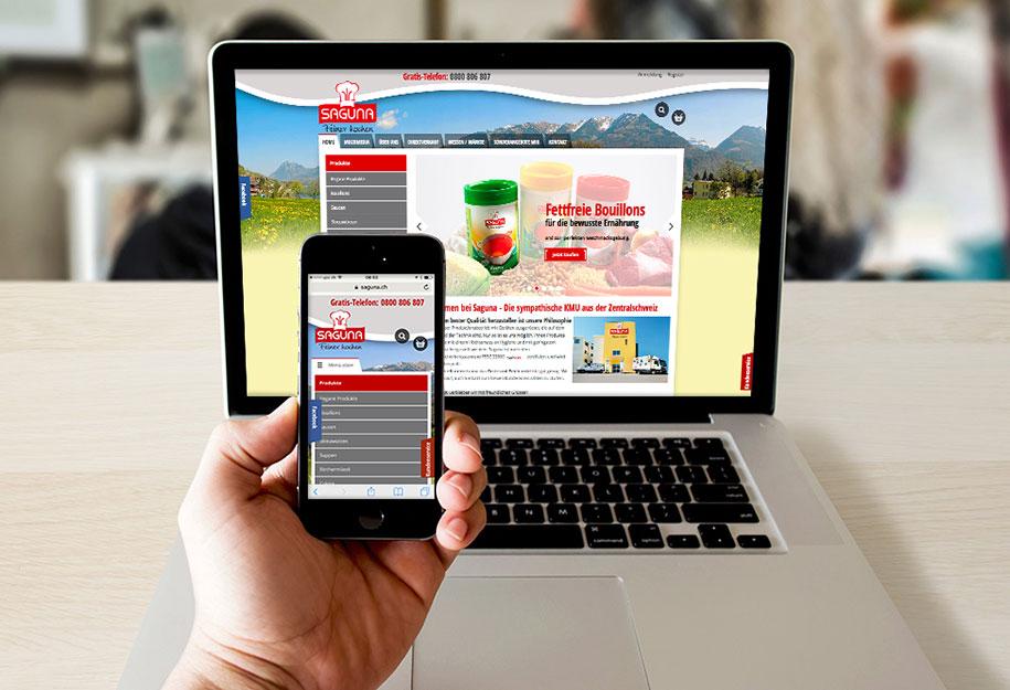 Webshop für Saguna Webagentur KRT Media